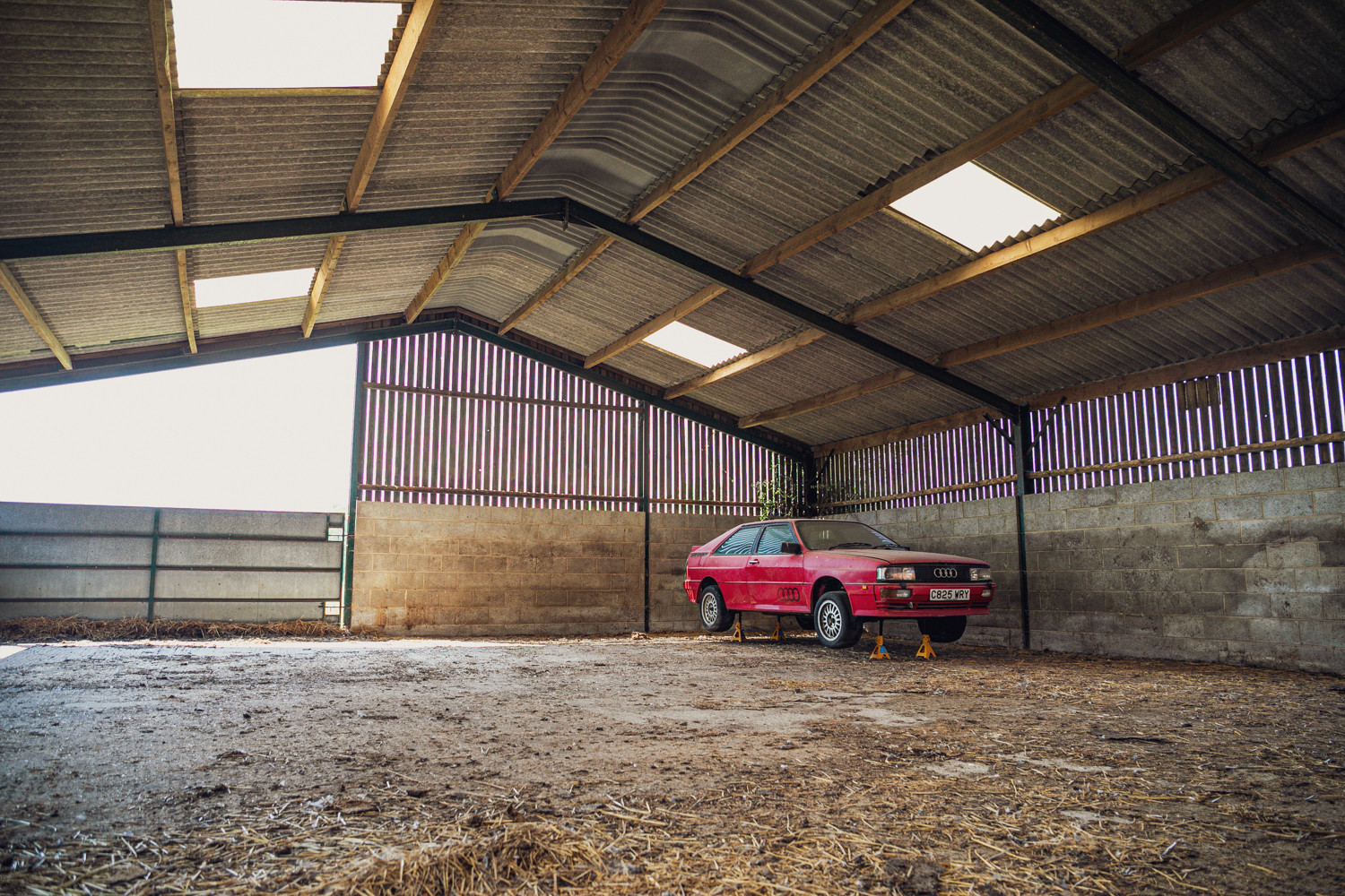 Audi Quattro barn find front three-quarter far