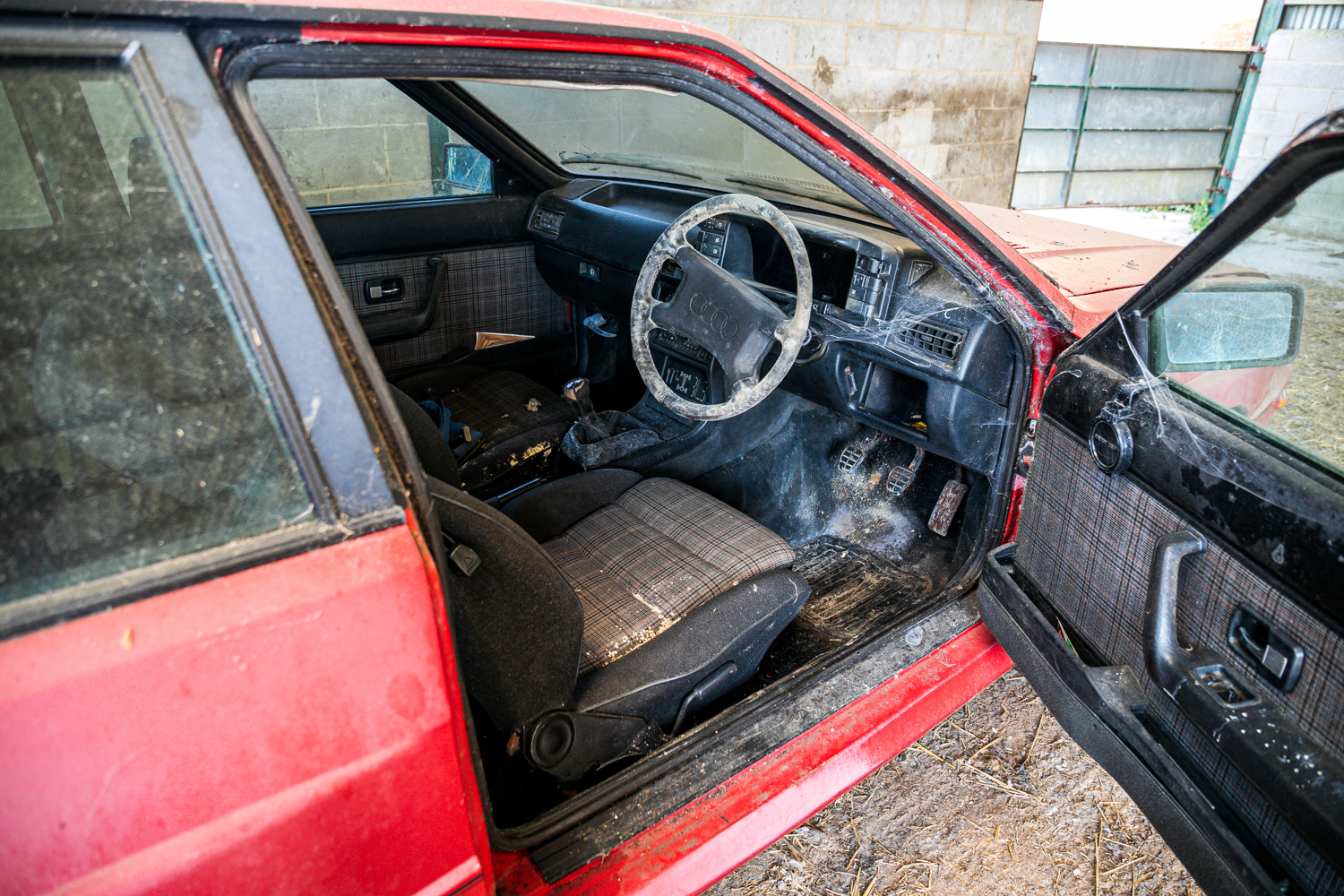 Audi Quattro barn find interior