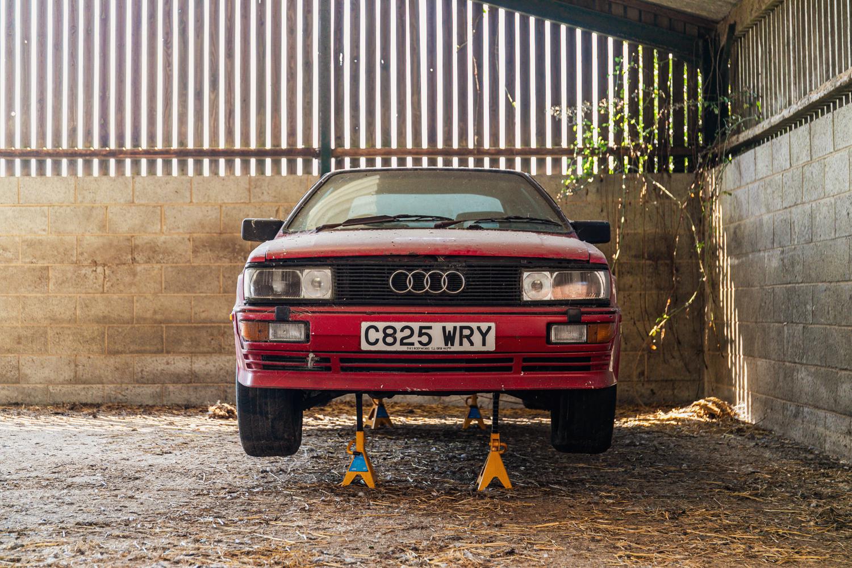 Audi Quattro barn find front