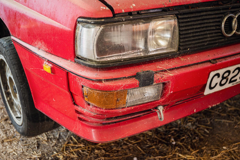 Audi Quattro barn find front angle