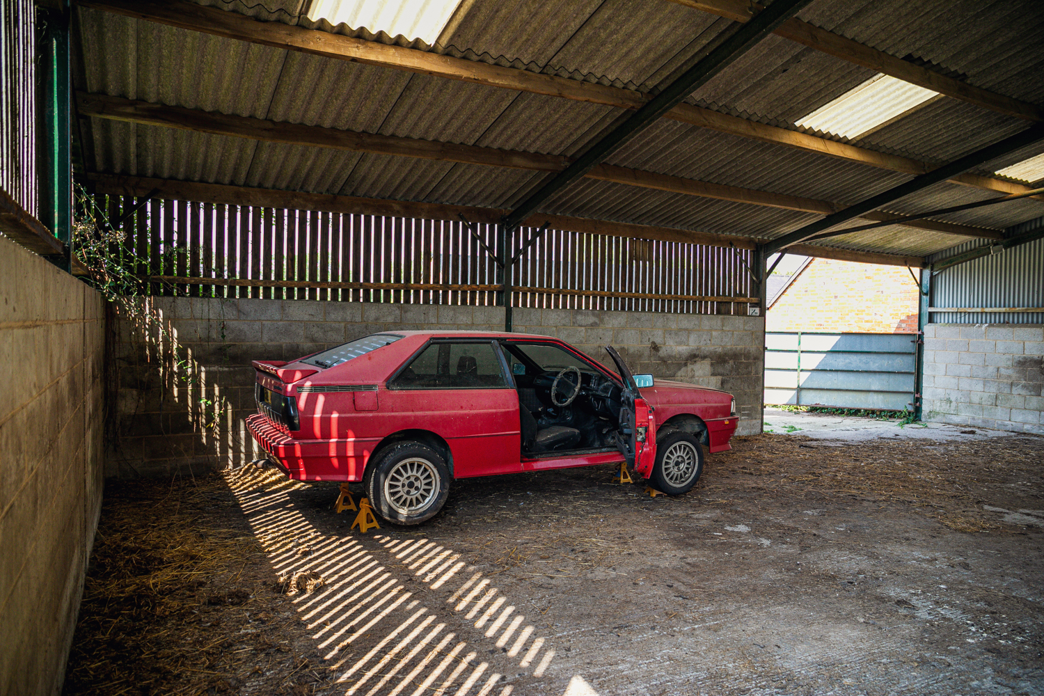 Audi Quattro barn find rear three-quarter