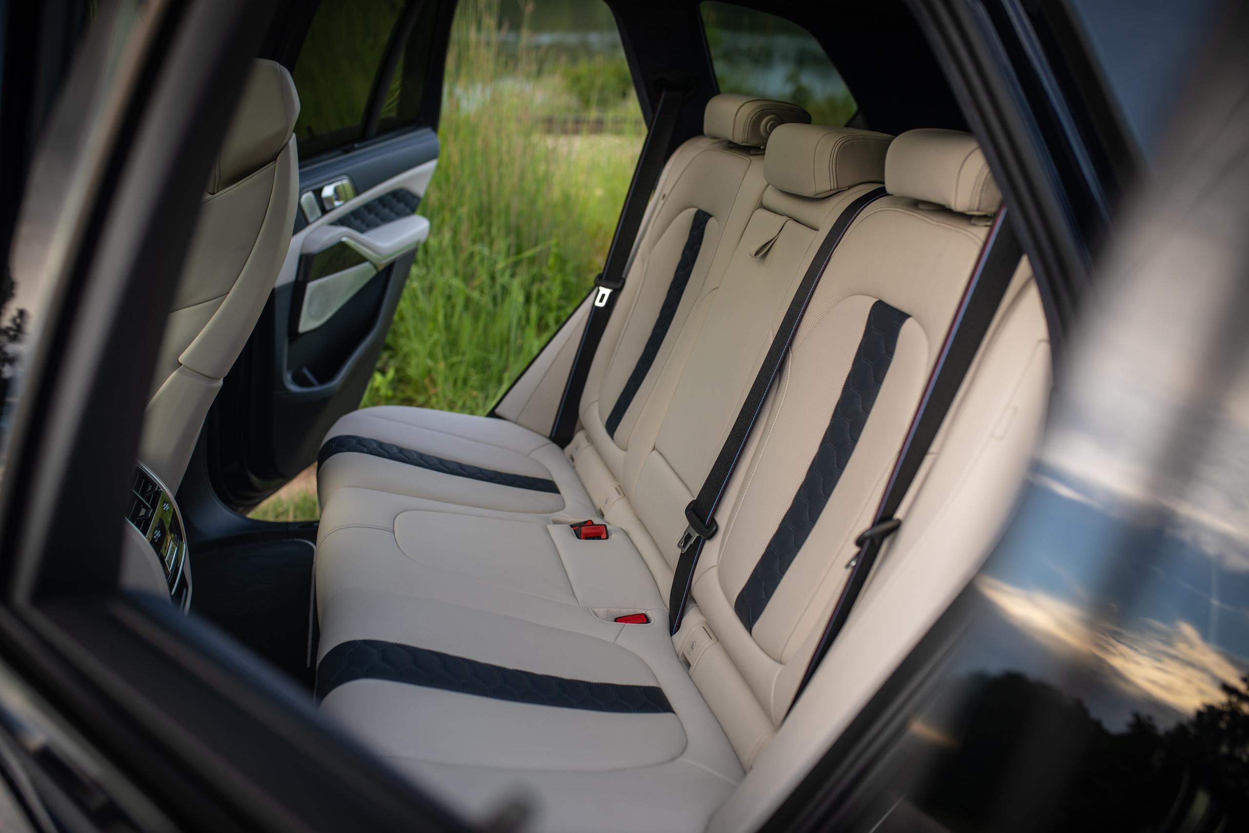 bmw x5m interior rear seat
