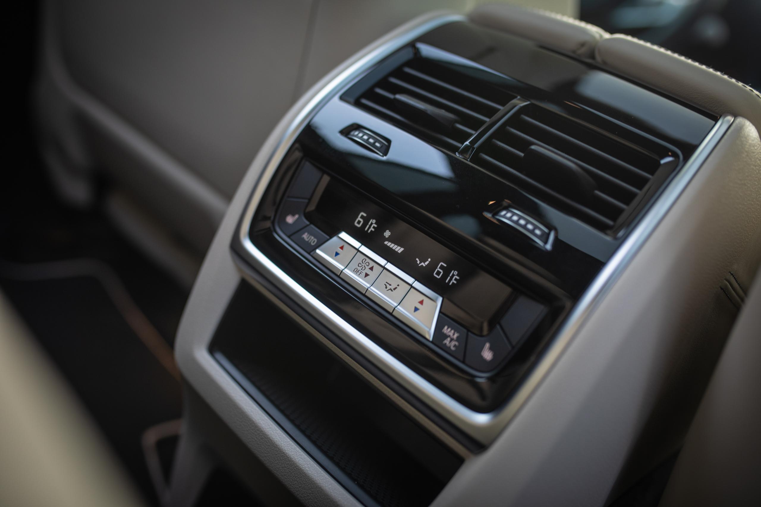 bmw x5m interior rear cabin climate controls