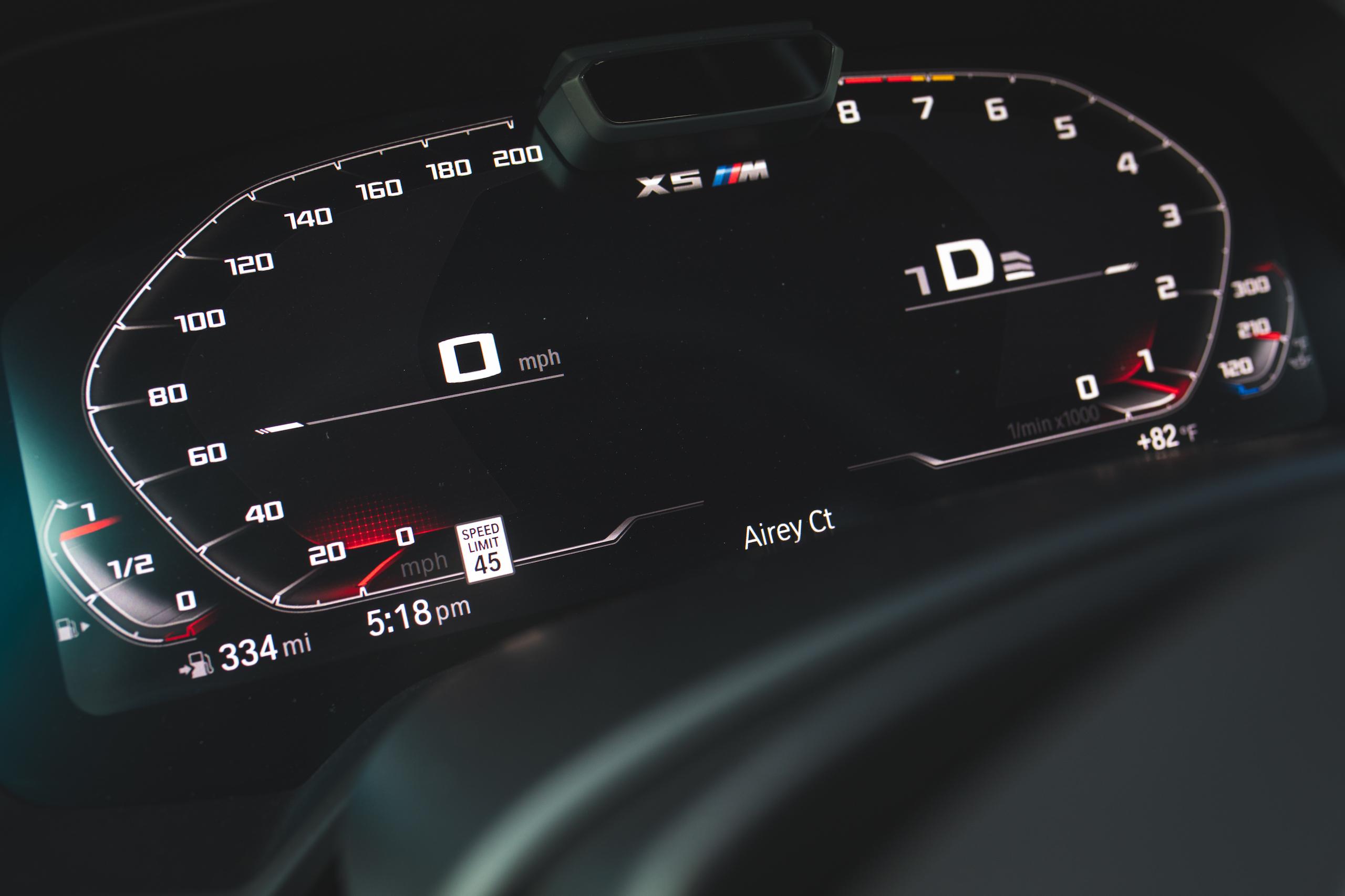 bmw x5m dash digital gauge