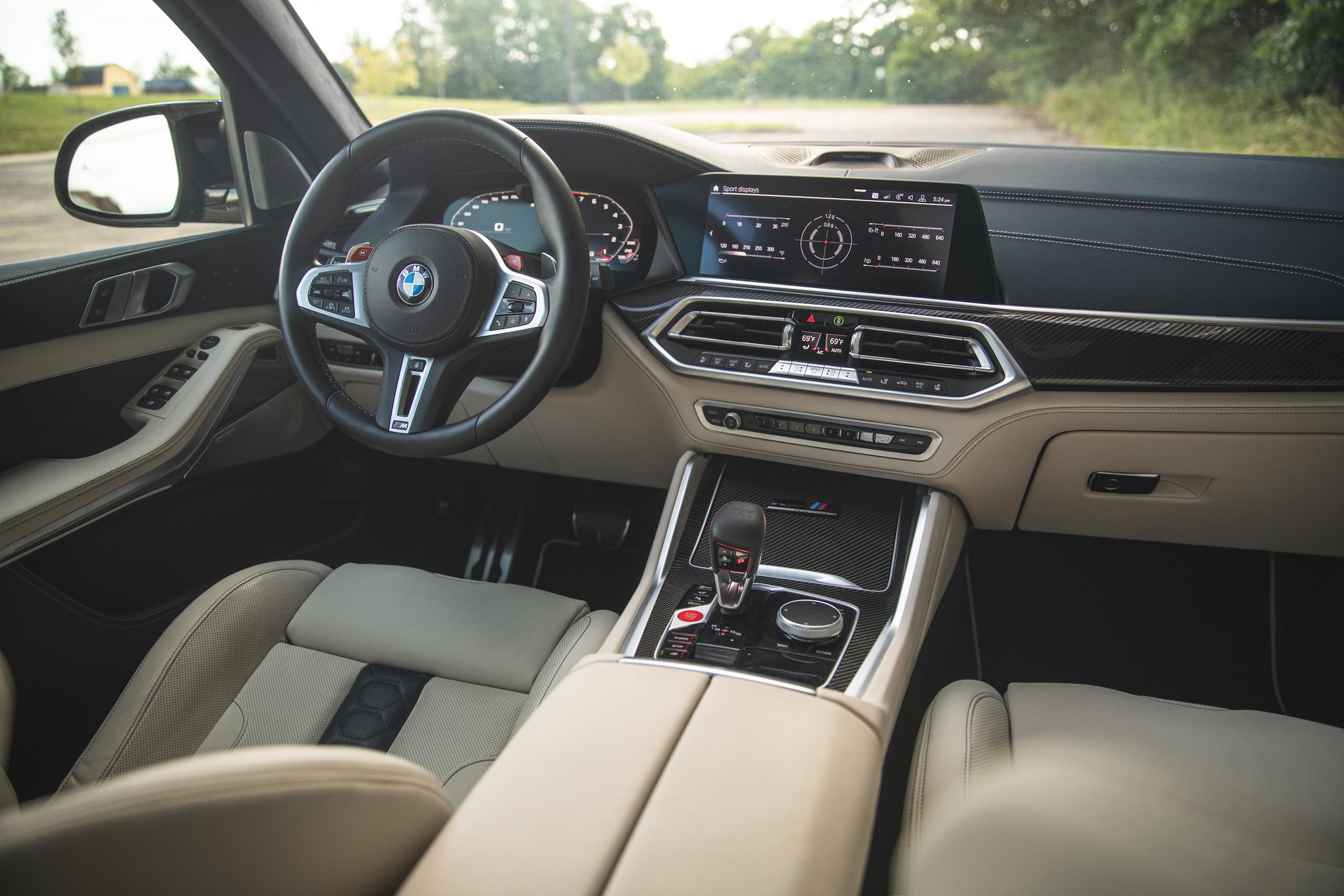 bmw x5m front interior