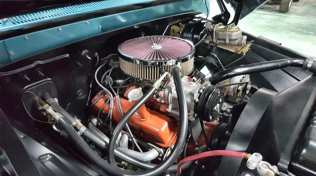 Buddy Allen Chevrolet - 1965 C10 - engine angle