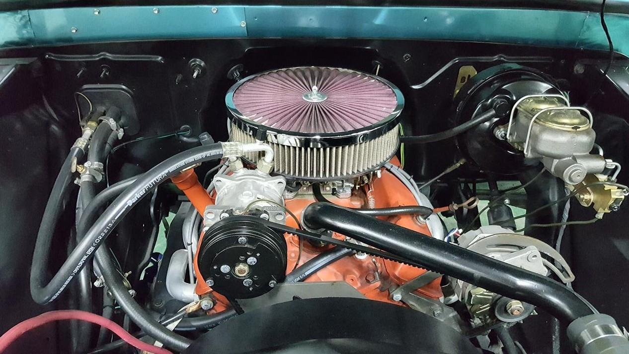 Buddy Allen Chevrolet - 1965 C10 - engine straight on