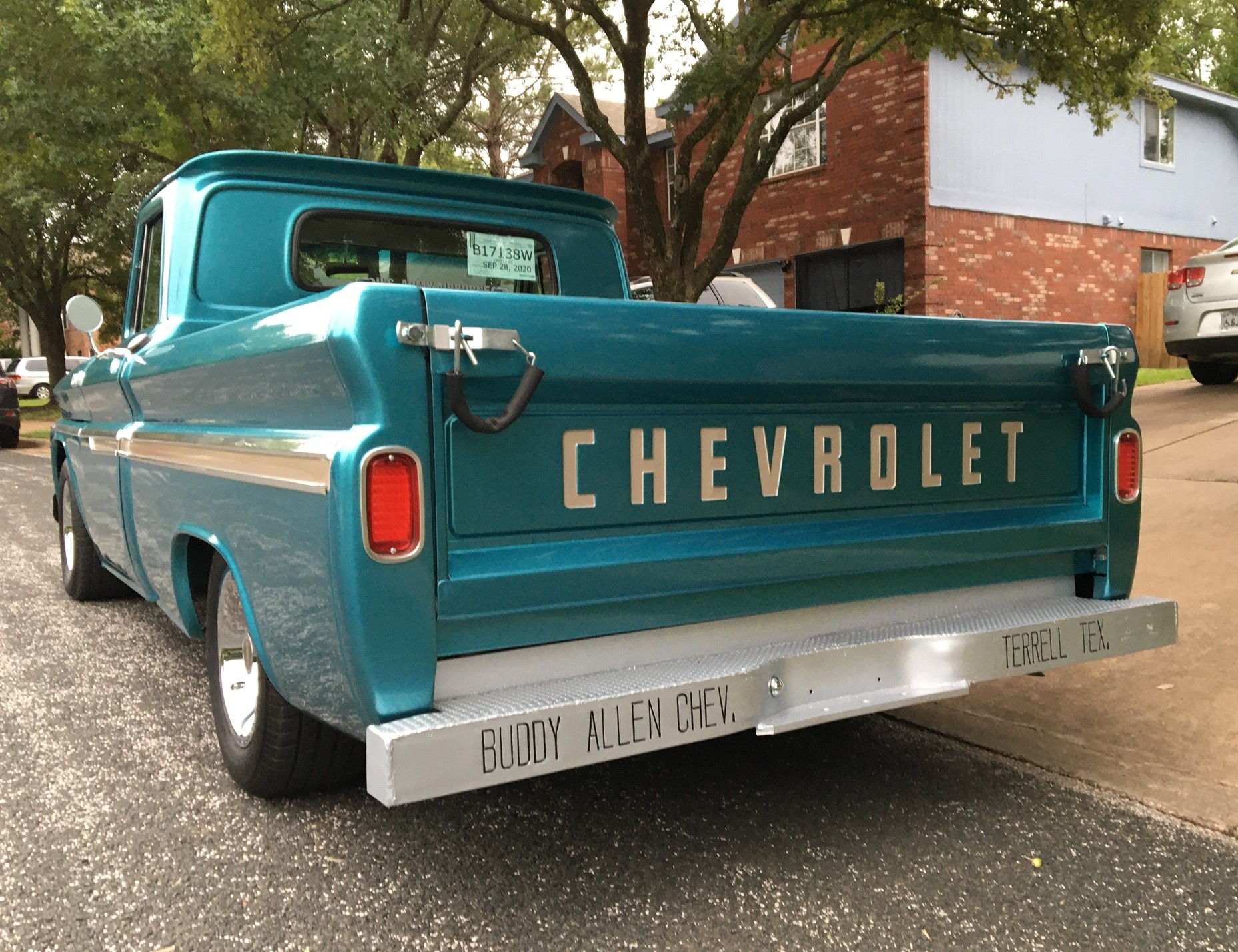 Buddy Allen Chevrolet - 1965 C10 at home - Full rear end
