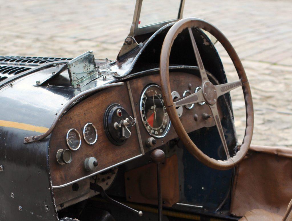 vintage bugatti wheel