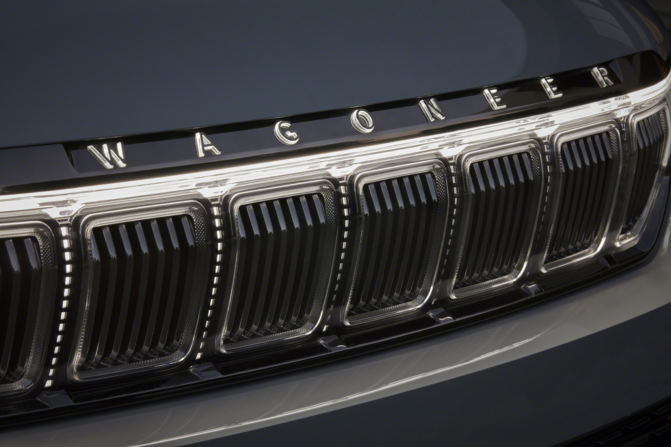 Grand Wagoneer Concept illuminated front lettering