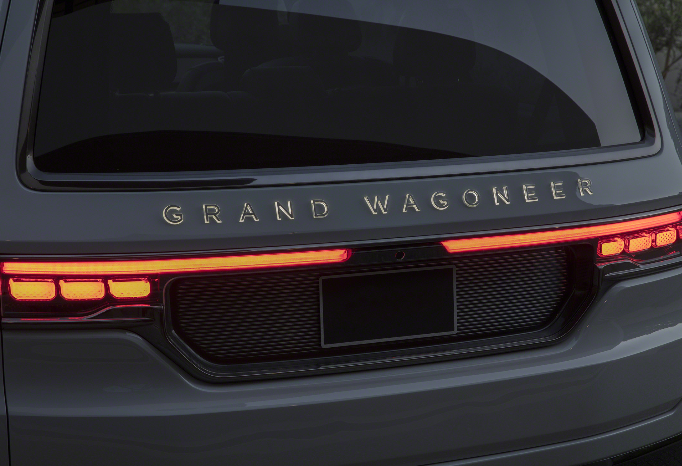 Grand Wagoneer Concept illuminated rear badges