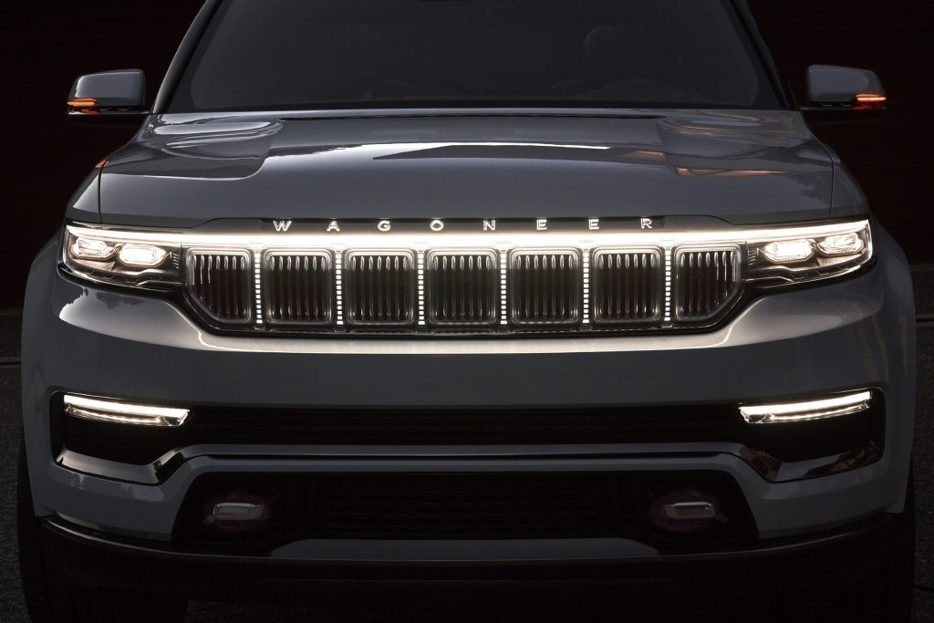 Grand Wagoneer Concept front grille and lighting elements