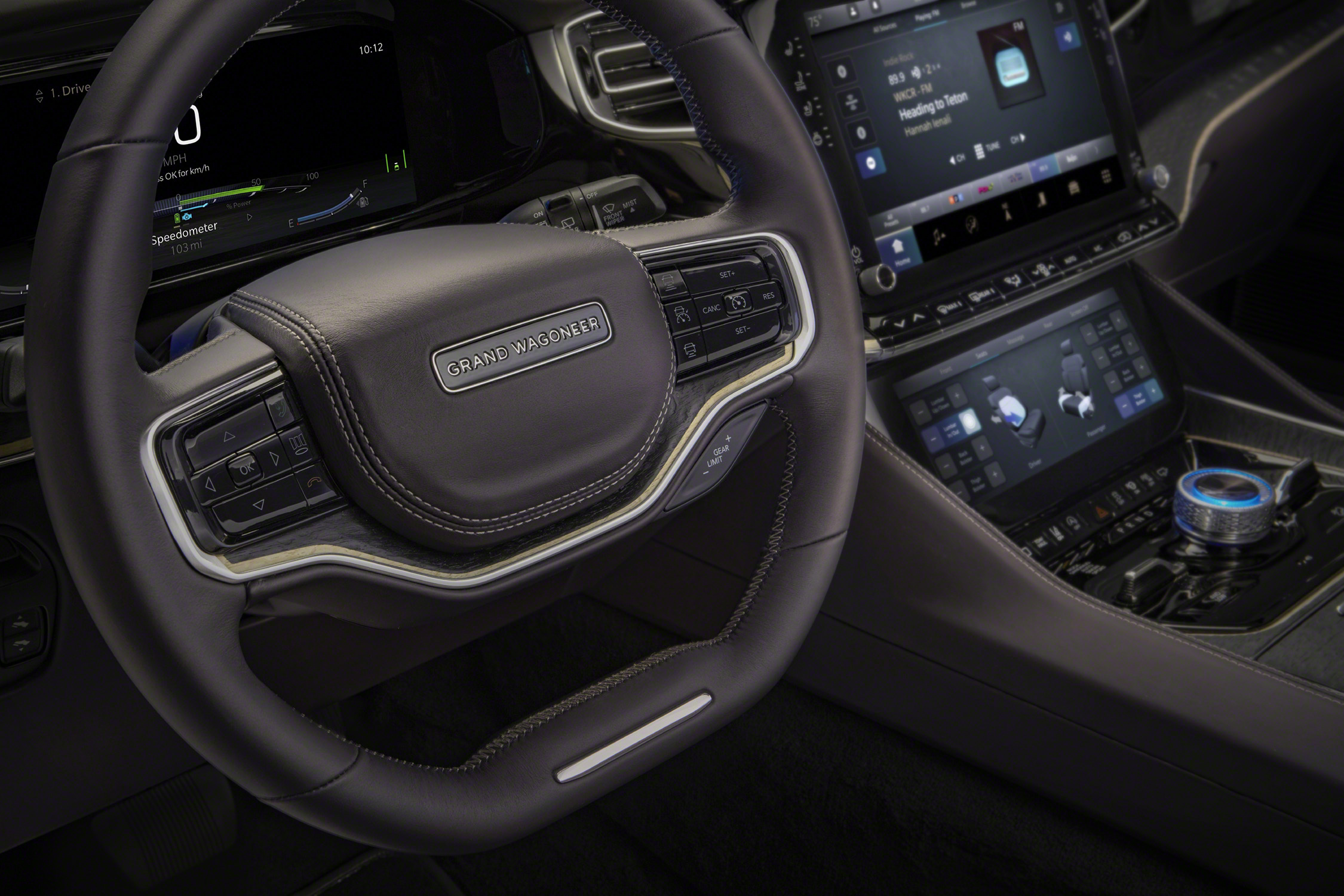Grand Wagoneer Concept steering wheel and center console