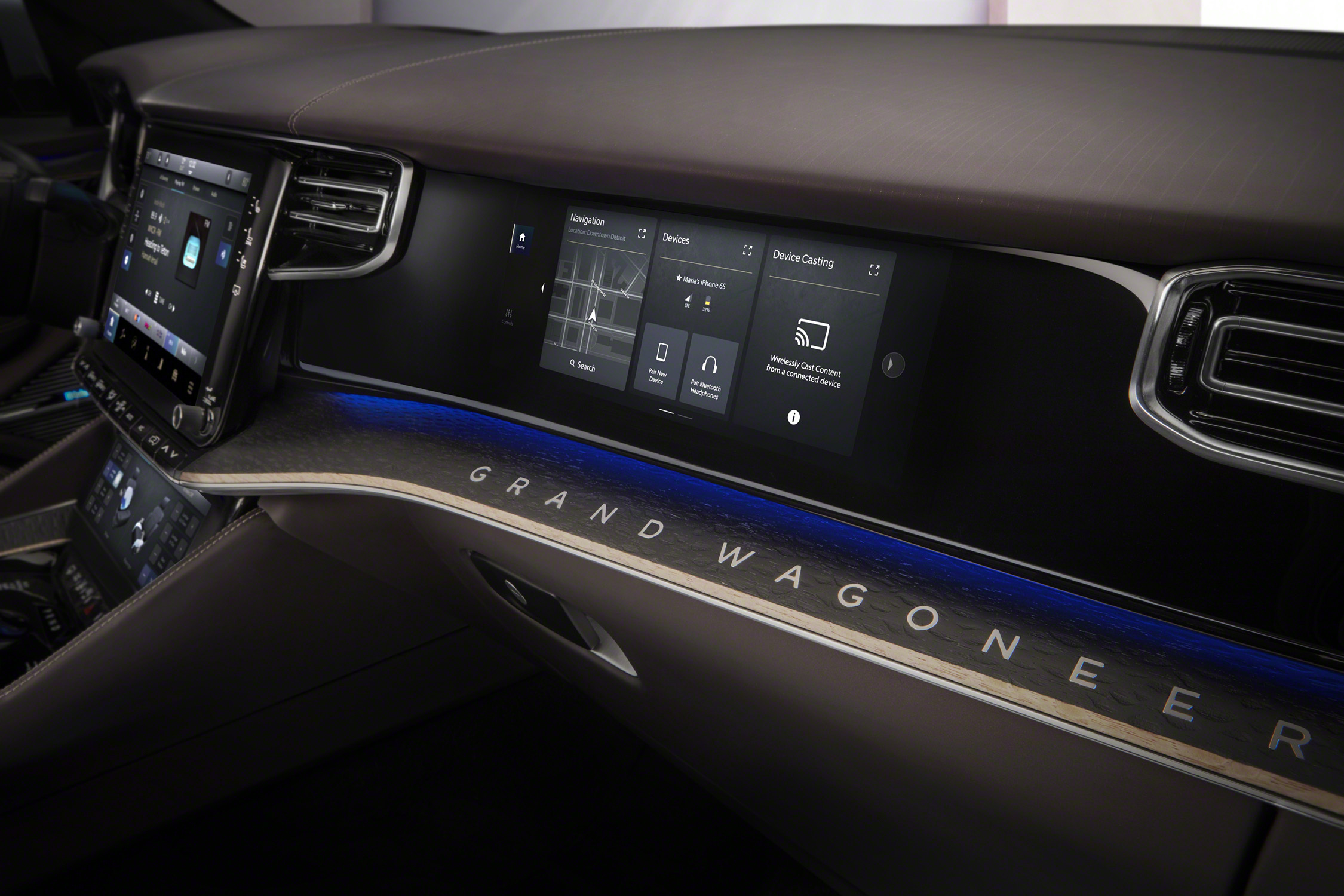 Grand Wagoneer Concept passenger screen