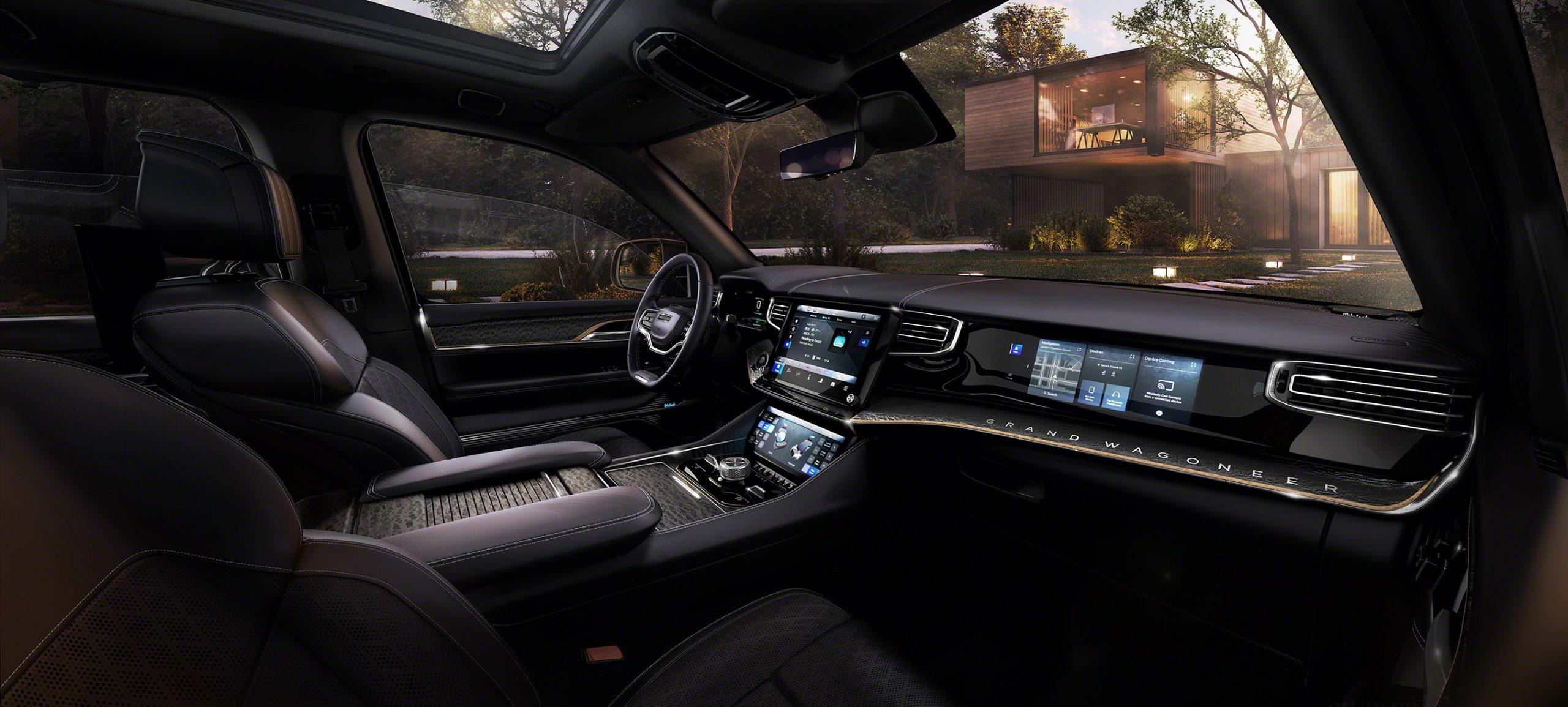 Grand Wagoneer Concept wide-angle interior shot