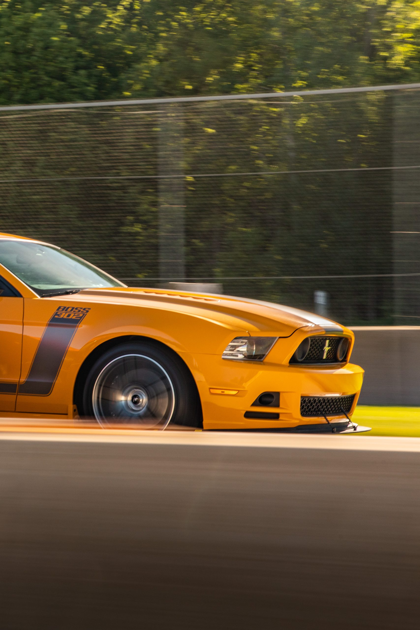 modern ford mustang boss 302 dynamic track action
