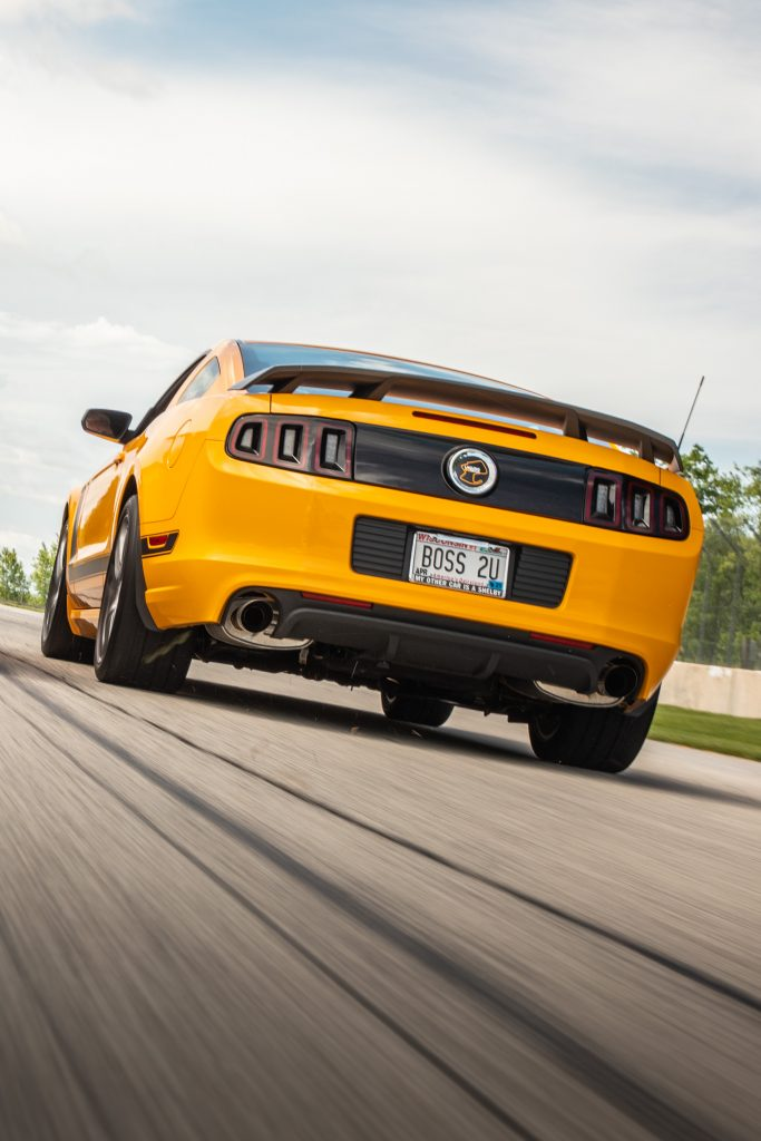 ford mustang boss 302 modern style dynamic track action rear