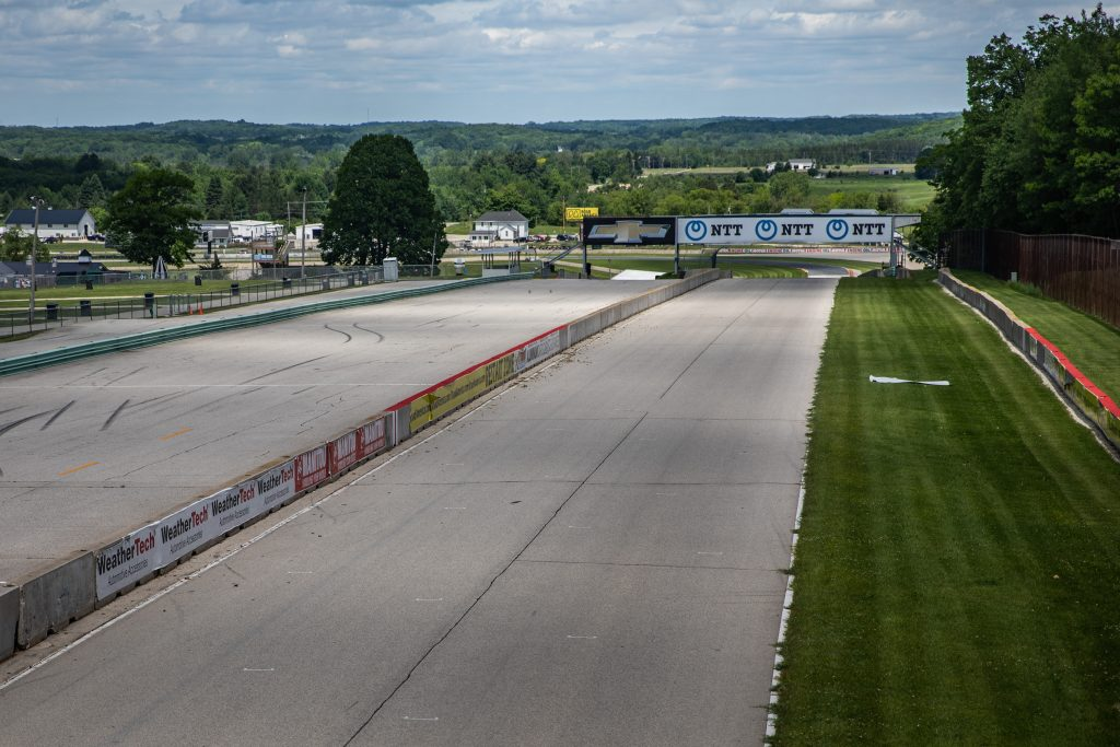 Road America track straight