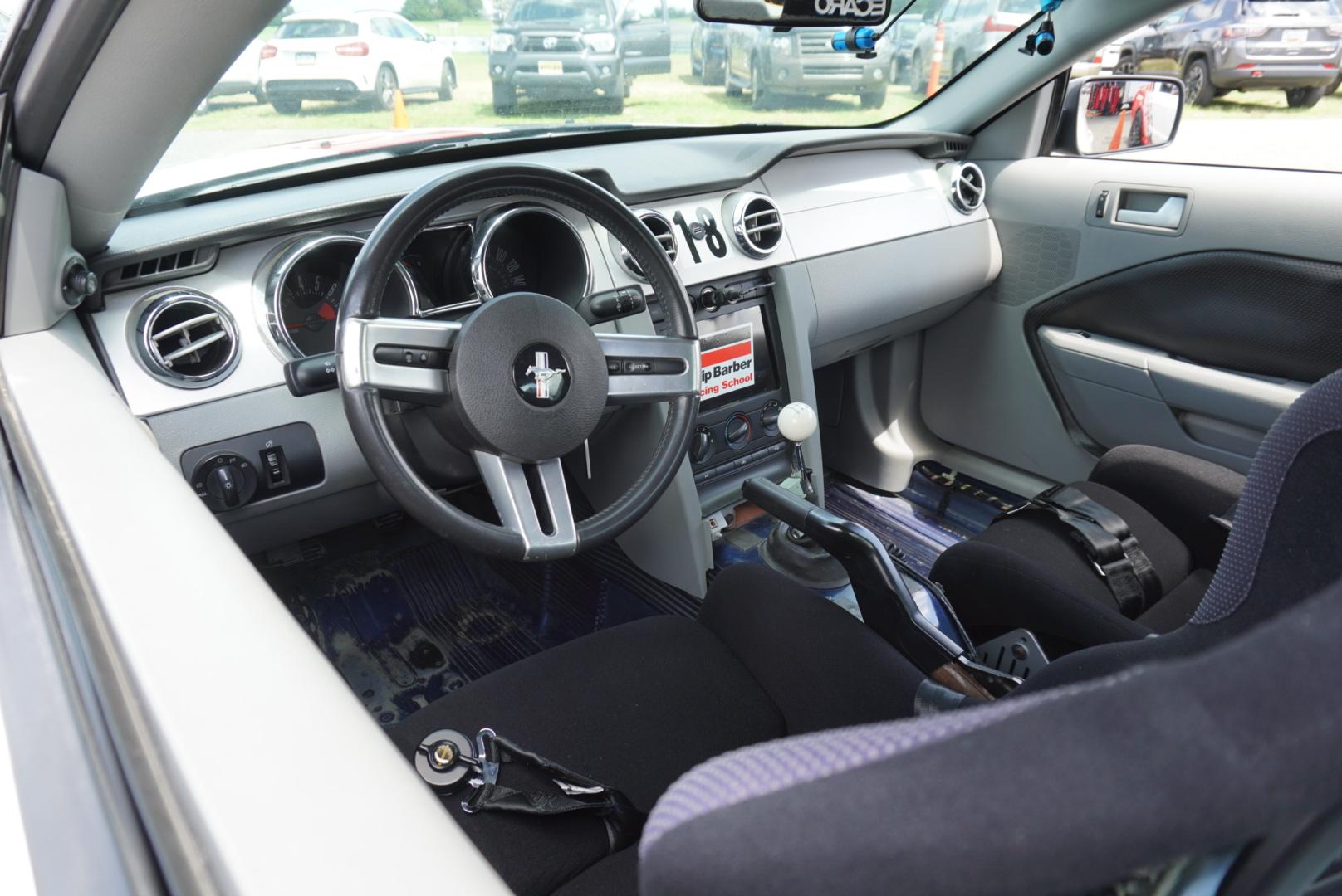 Skip Barber Racing School Ford Mustang race car interior