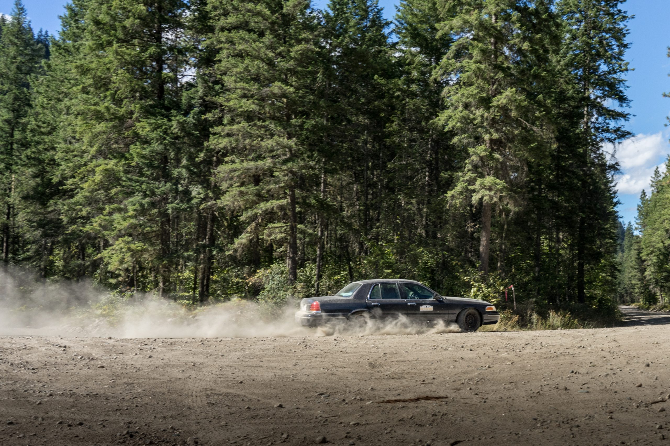 crown vic side profile dynamic dirt road action
