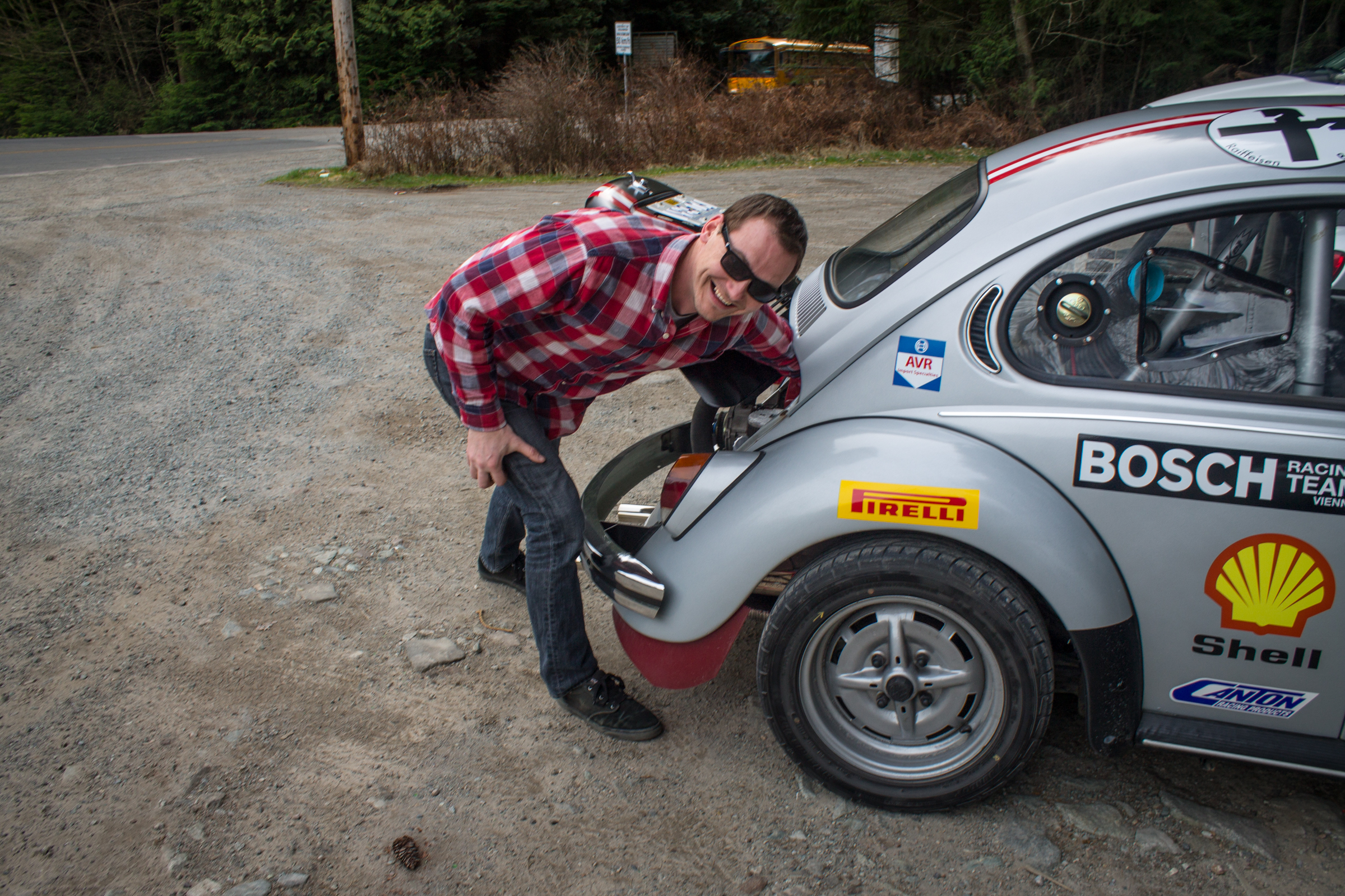 rush to gold bridge VW Beetle