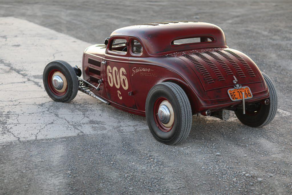 Dic Deluna 1934 Ford Coupe rear driver side three quarter