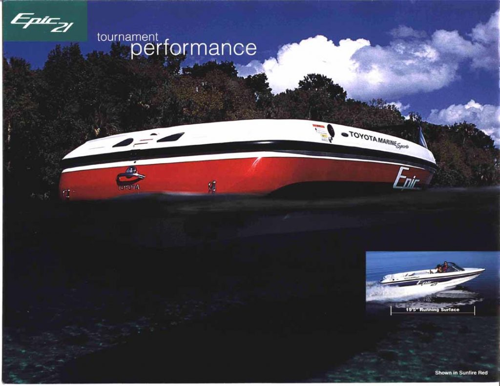 Toyota Epic 21 Powerboat ad rear hull