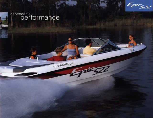 Toyota Epic S22 Powerboat rear three-quarter action