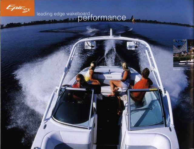 Toyota Epic SX Powerboat wakeboarding action