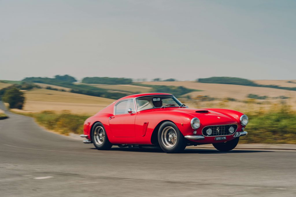 Ferrari 250 GT SWB recreation front three-quarter dynamic action