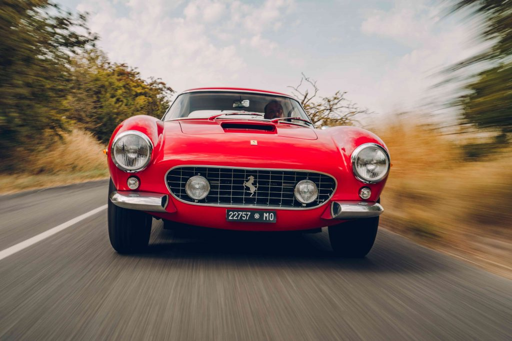 Ferrari 250 GT SWB recreation front dynamic action