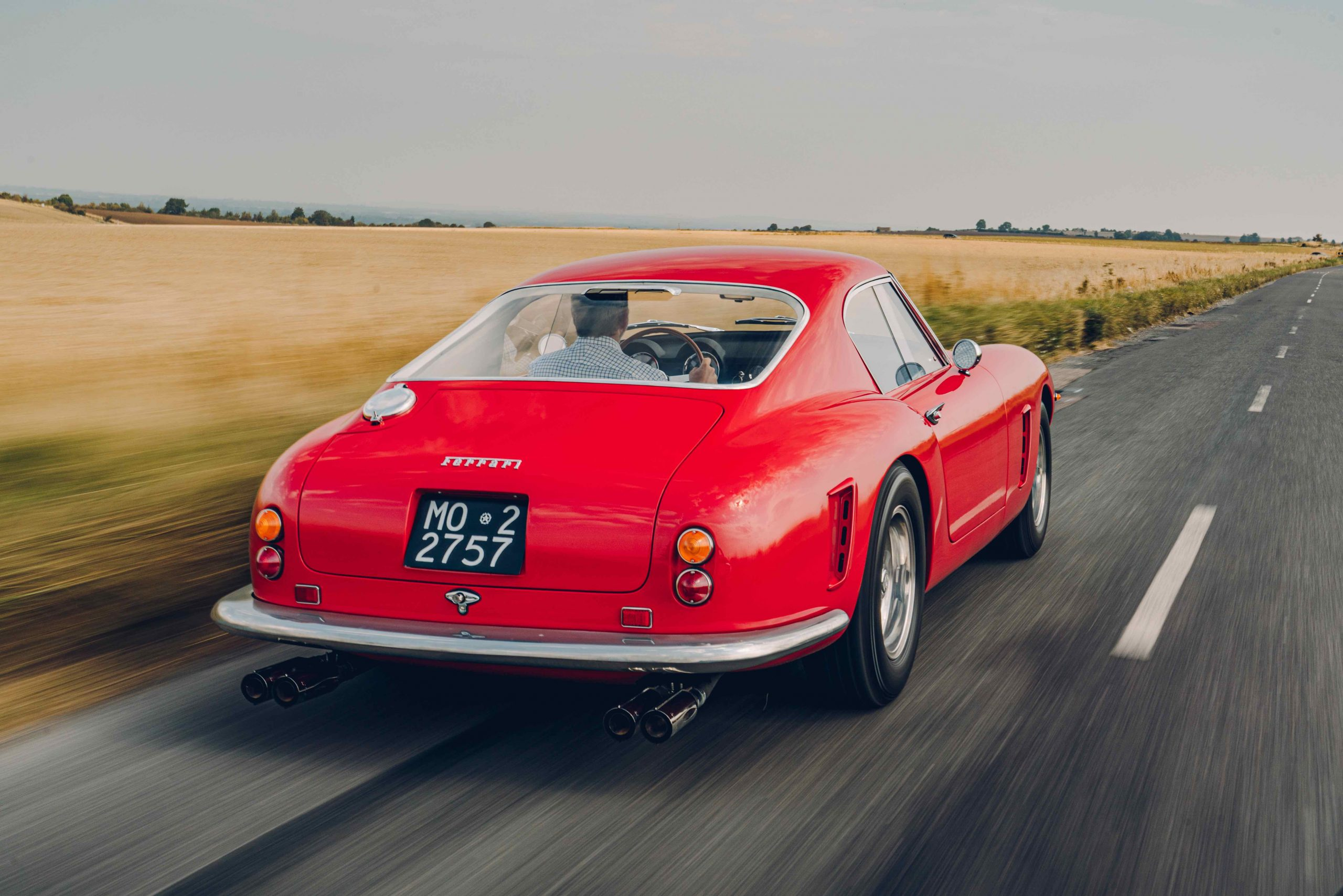 Ferrari 250 GT SWB recreation rear three-quarter dynamic action