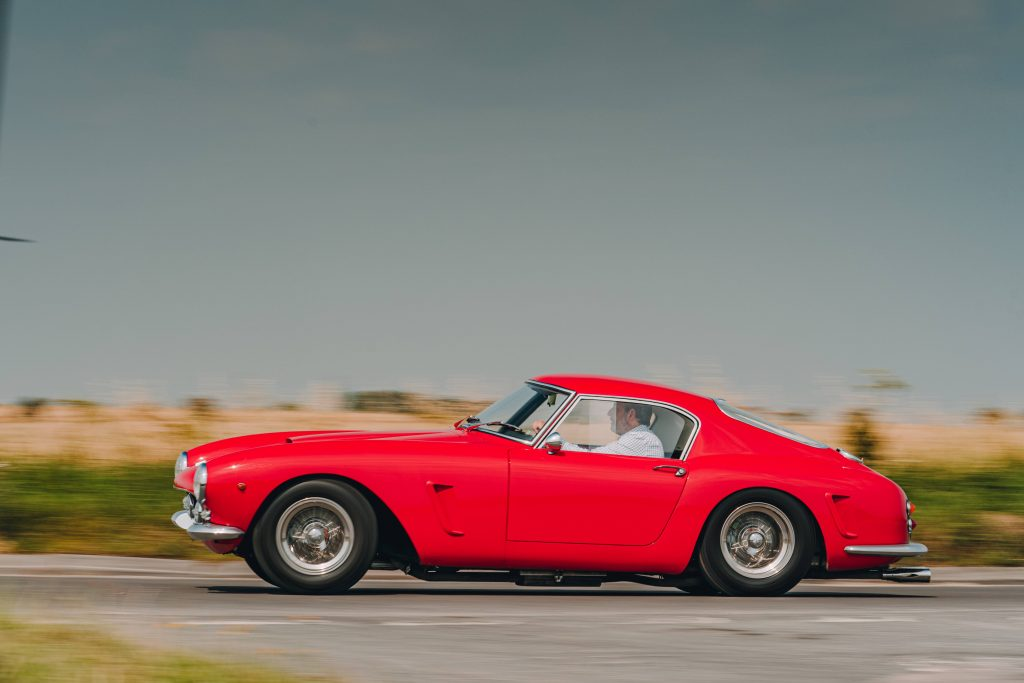 Ferrari 250 GT SWB recreation side profile dynamic action