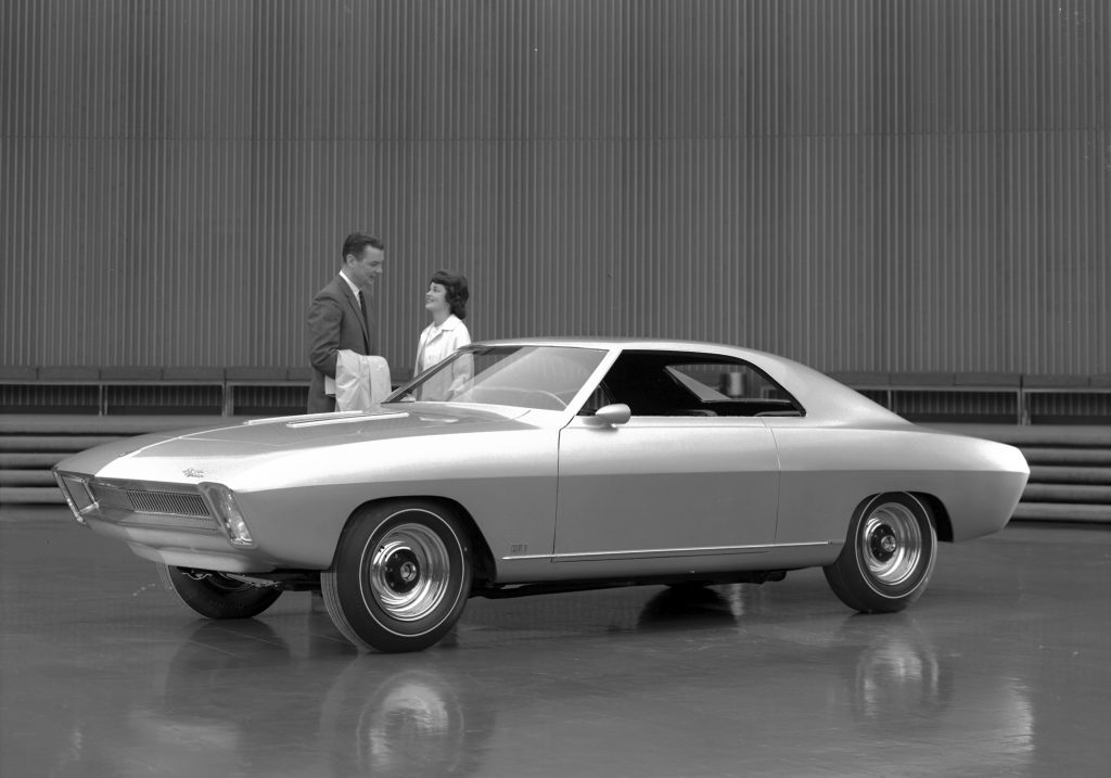First Gen Camaro design front three-quarter
