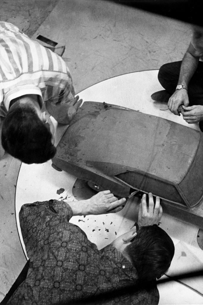 First Gen Camaro design clay model overhead