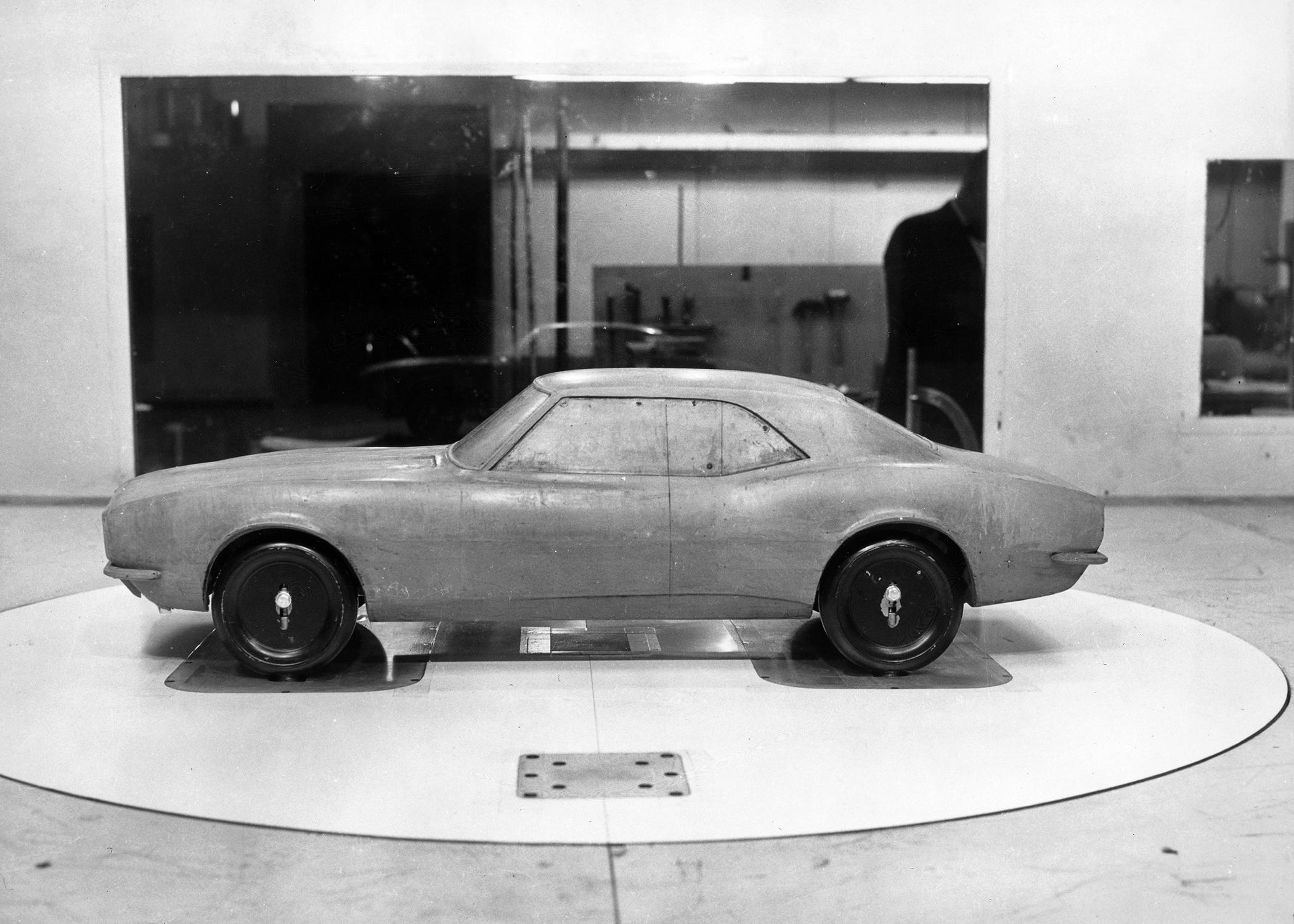 First Gen Camaro design clay model side profile