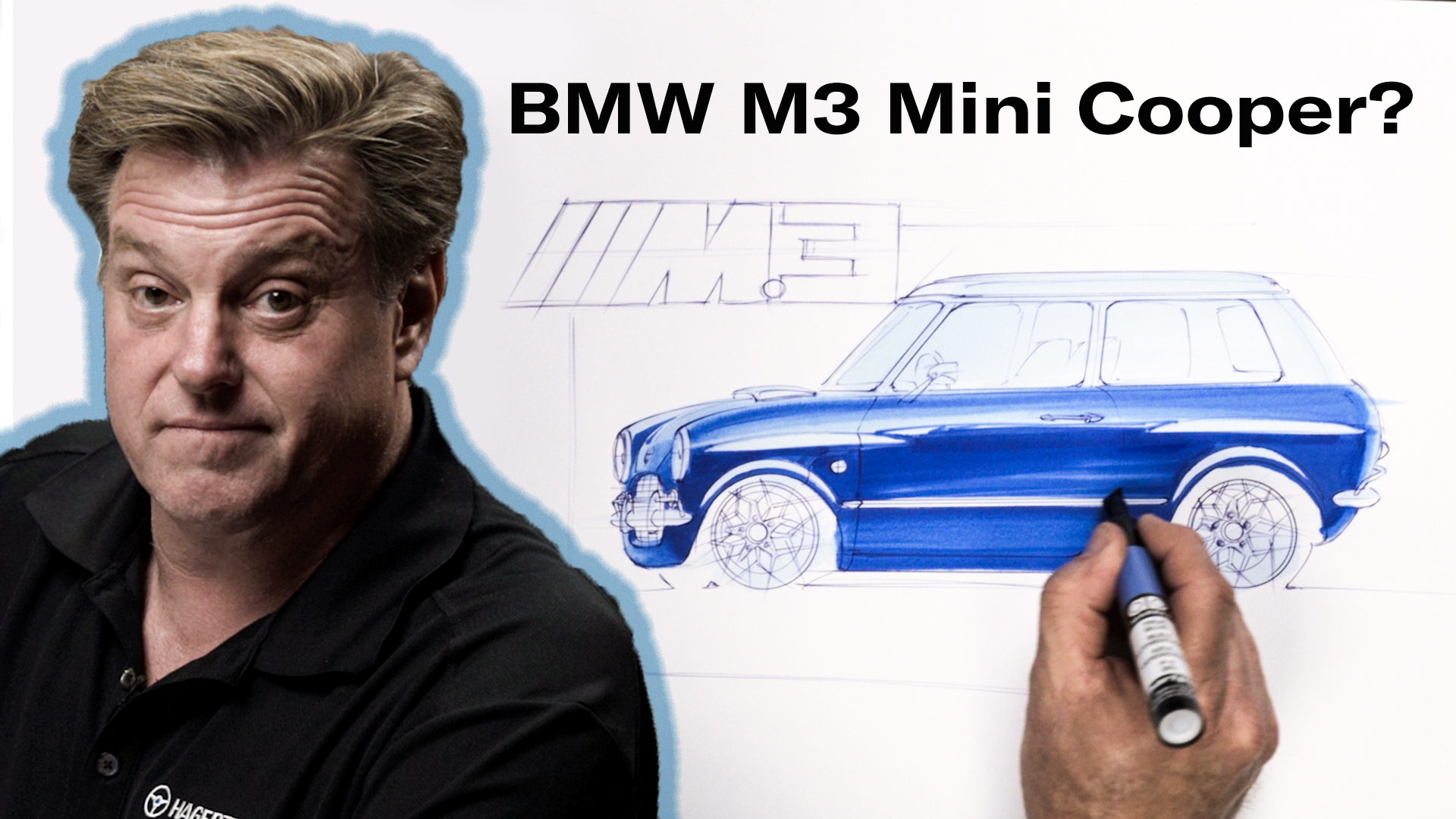 Chip Foose draws a Mini Cooper