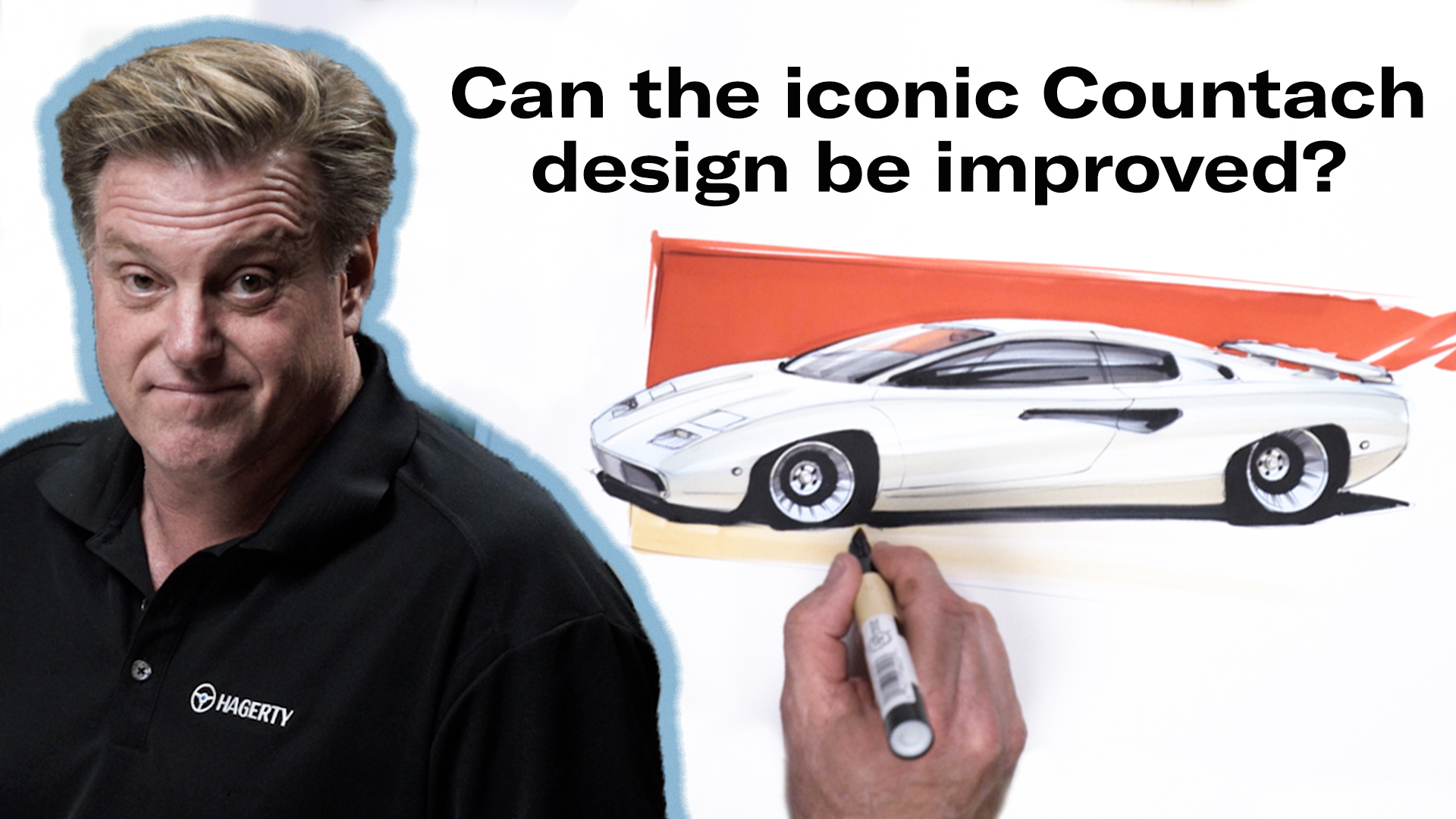 Chip Foose draws a Countach