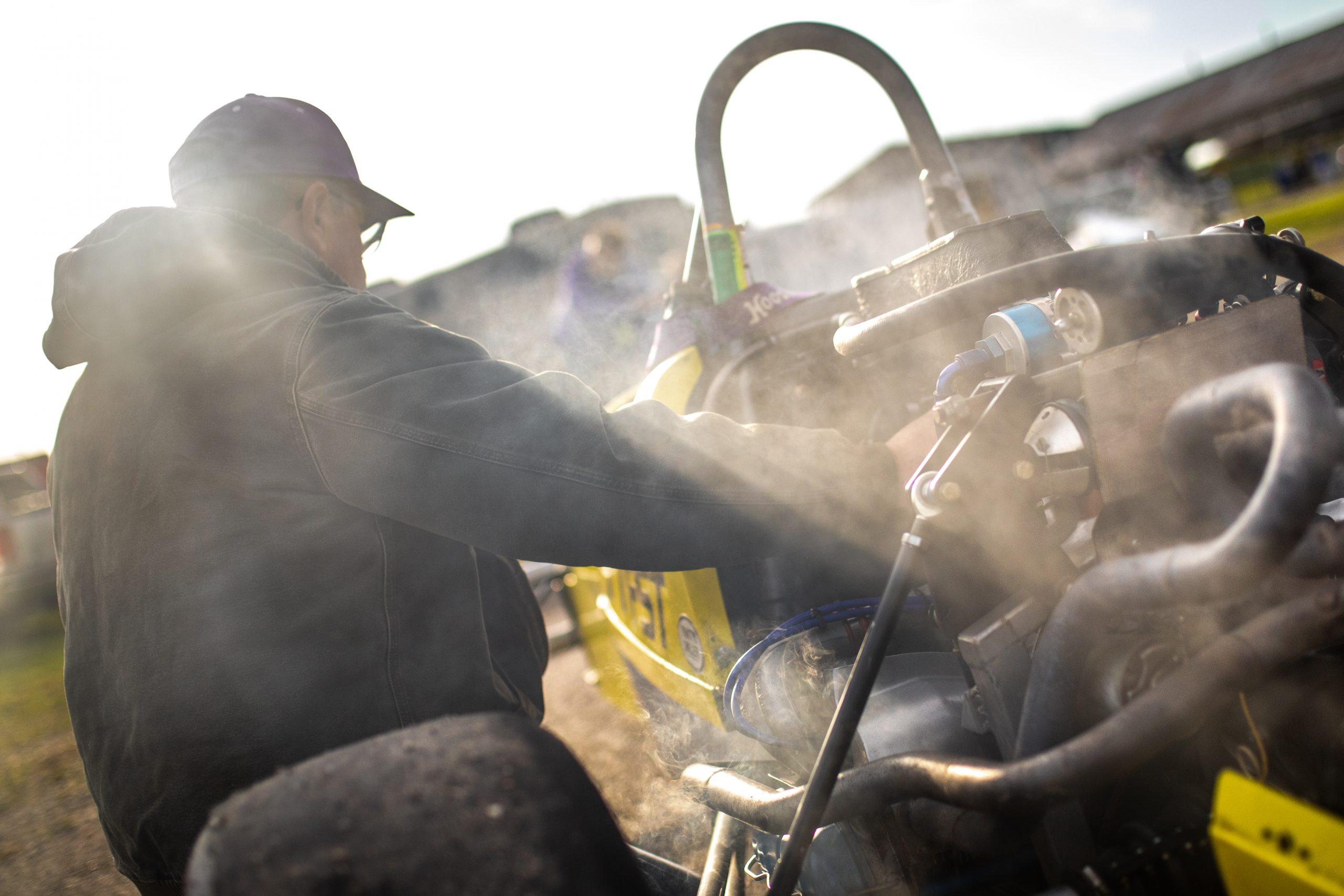 Formula First car steam