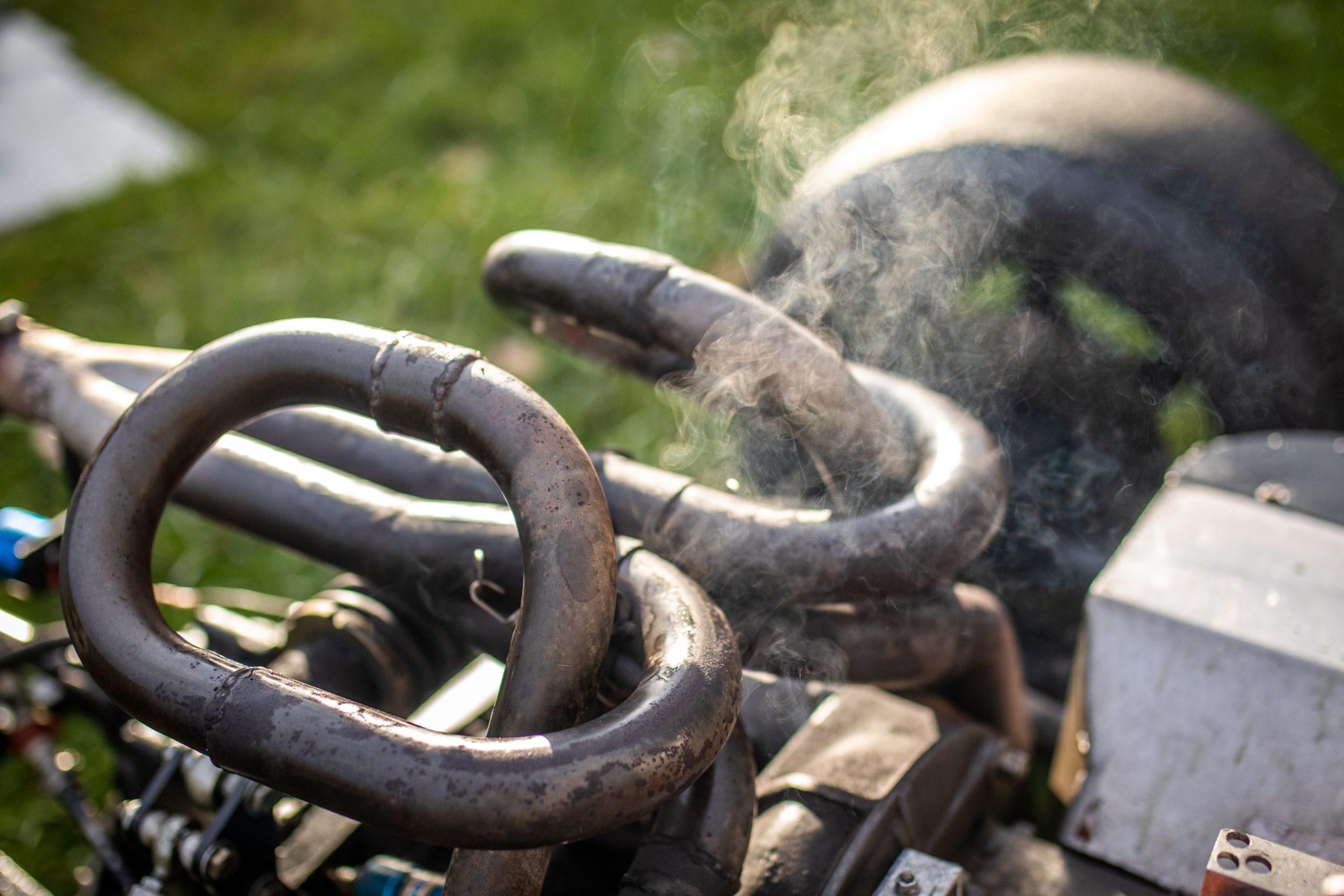 Formula First car pipe steam