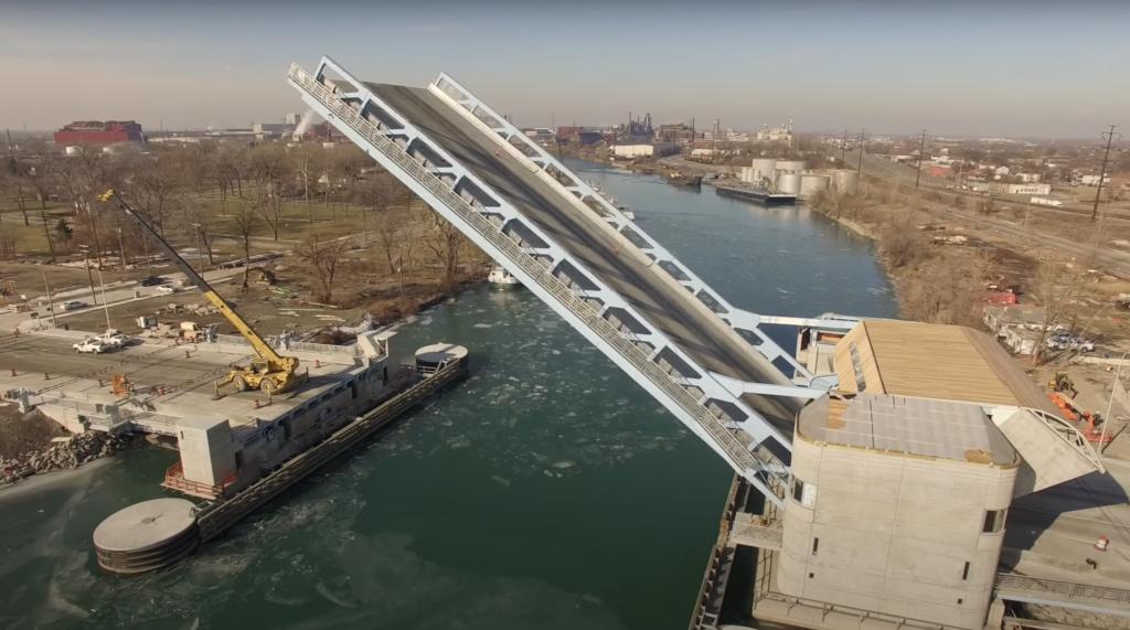 Fort Street Bridge Detroit MI
