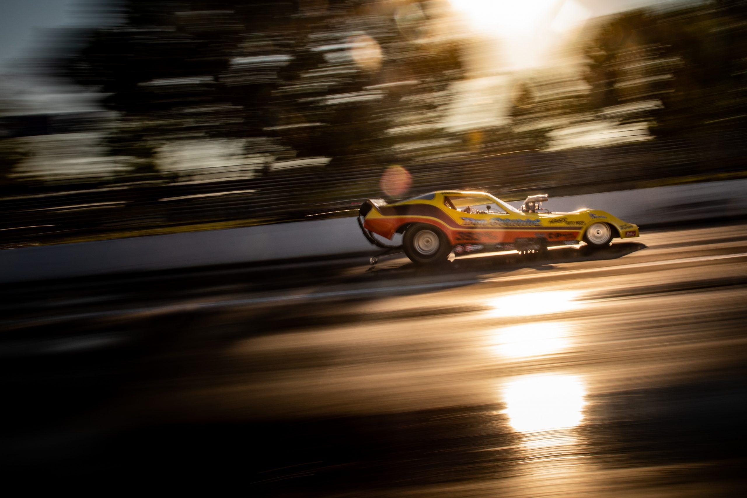 Milan Nostalgia Drags Corvette funny car