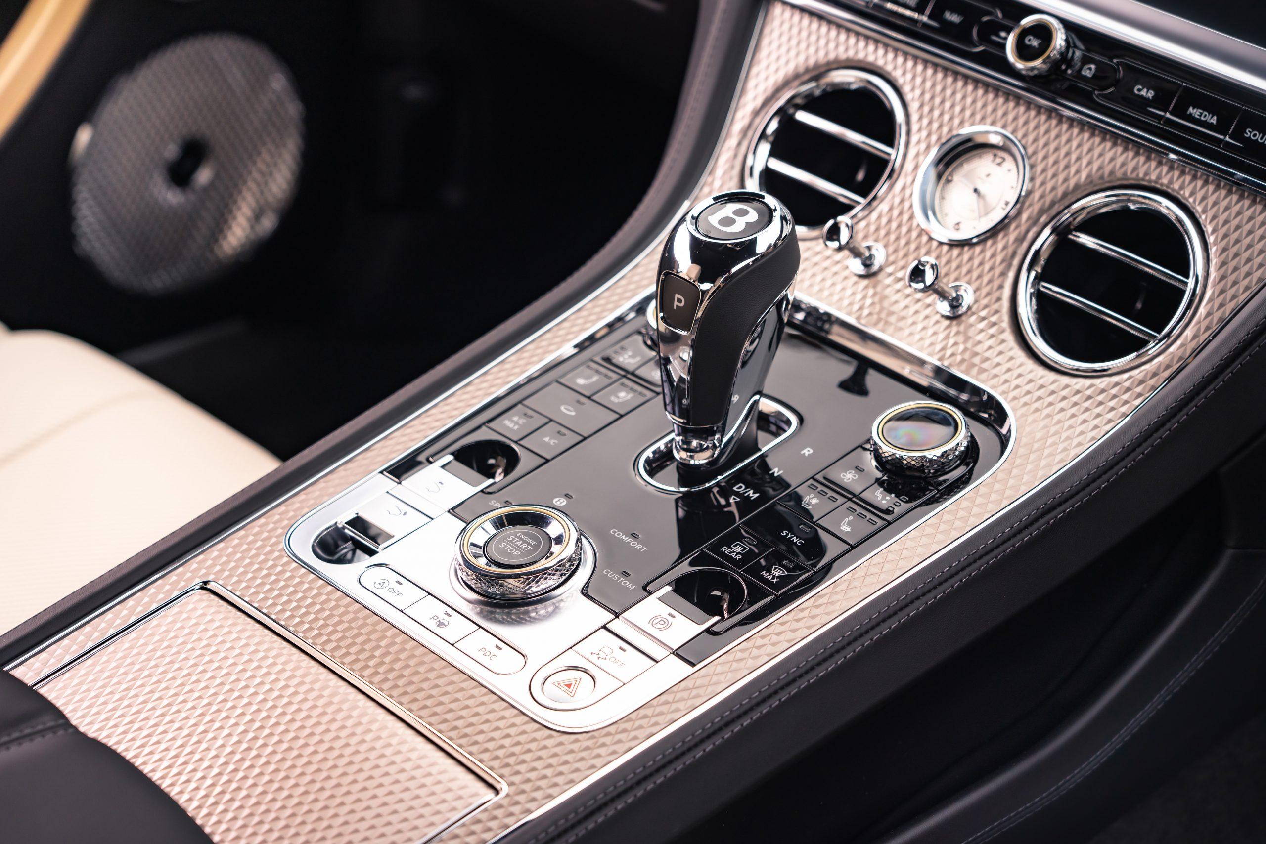 Bentley GT Mulliner shifter detail