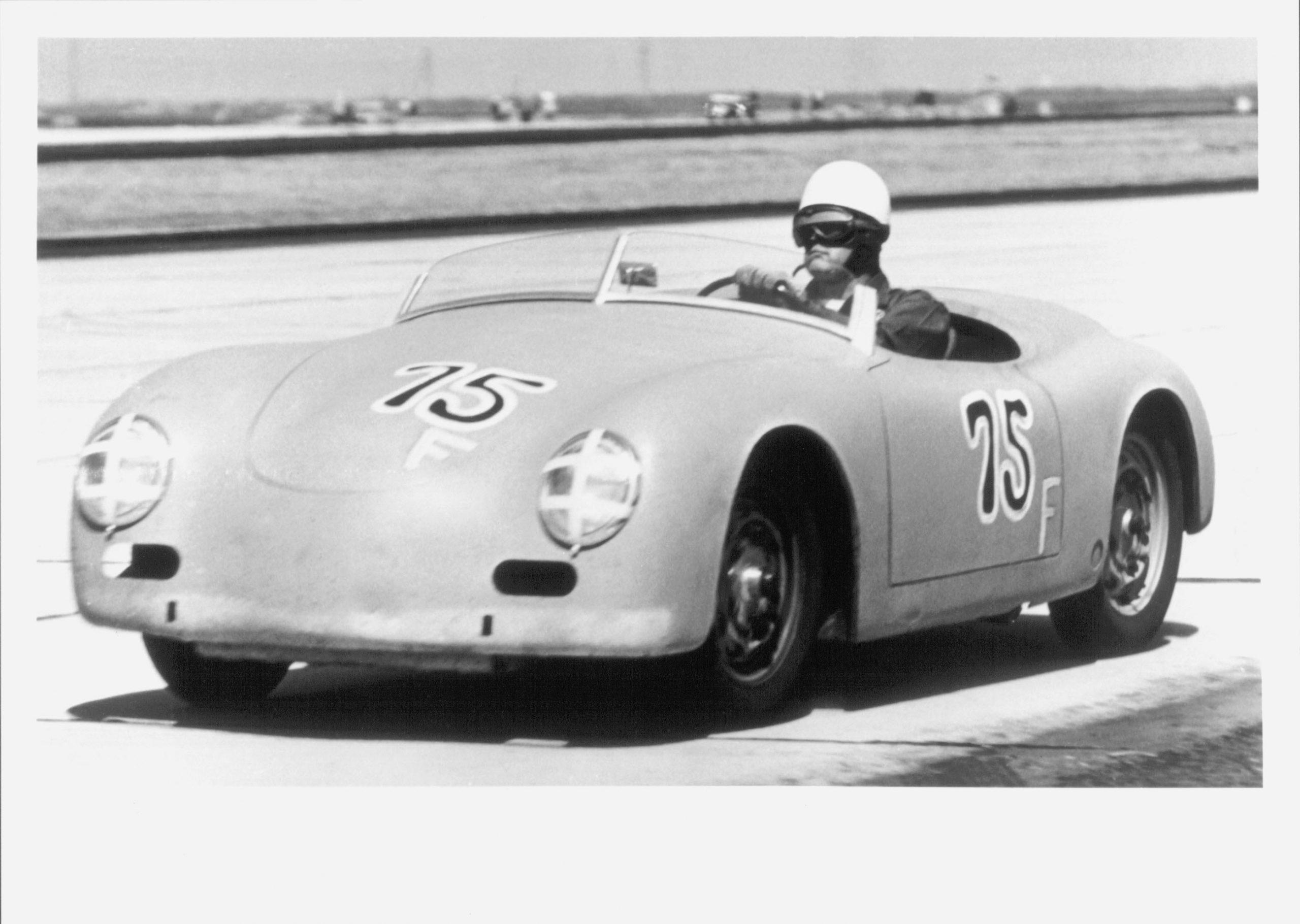 american racer jack mcafee racing porsche 356 moffett field california
