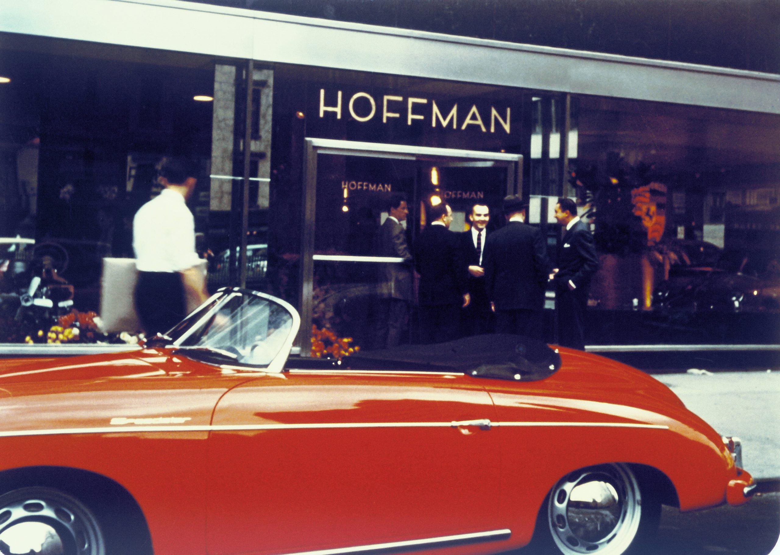1955 porsche 356 speedster streetside hoffman motor car company showroom new york city