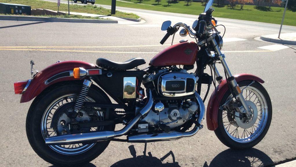 Harley Davidson XLH Sportster side profile