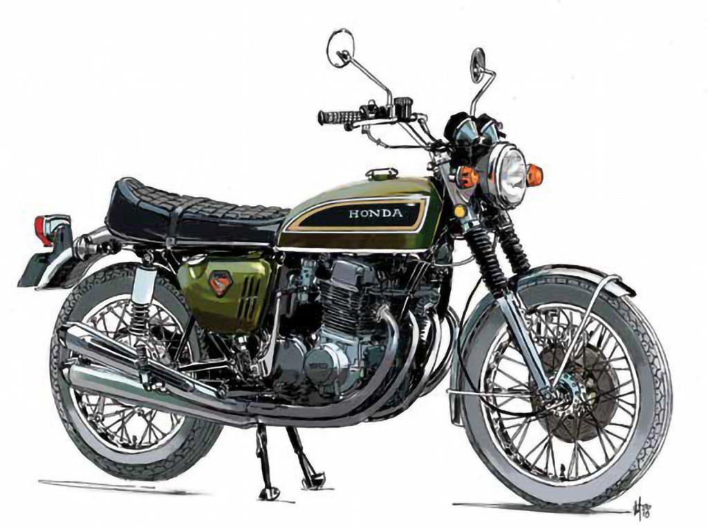 Honda motorcycle illustration