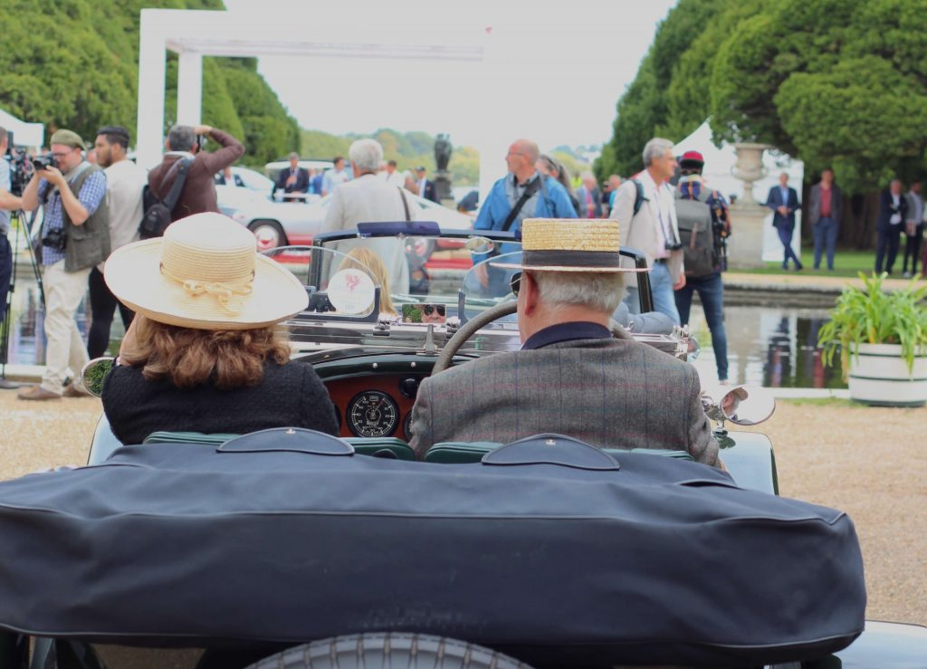 patrons in a coupe rear