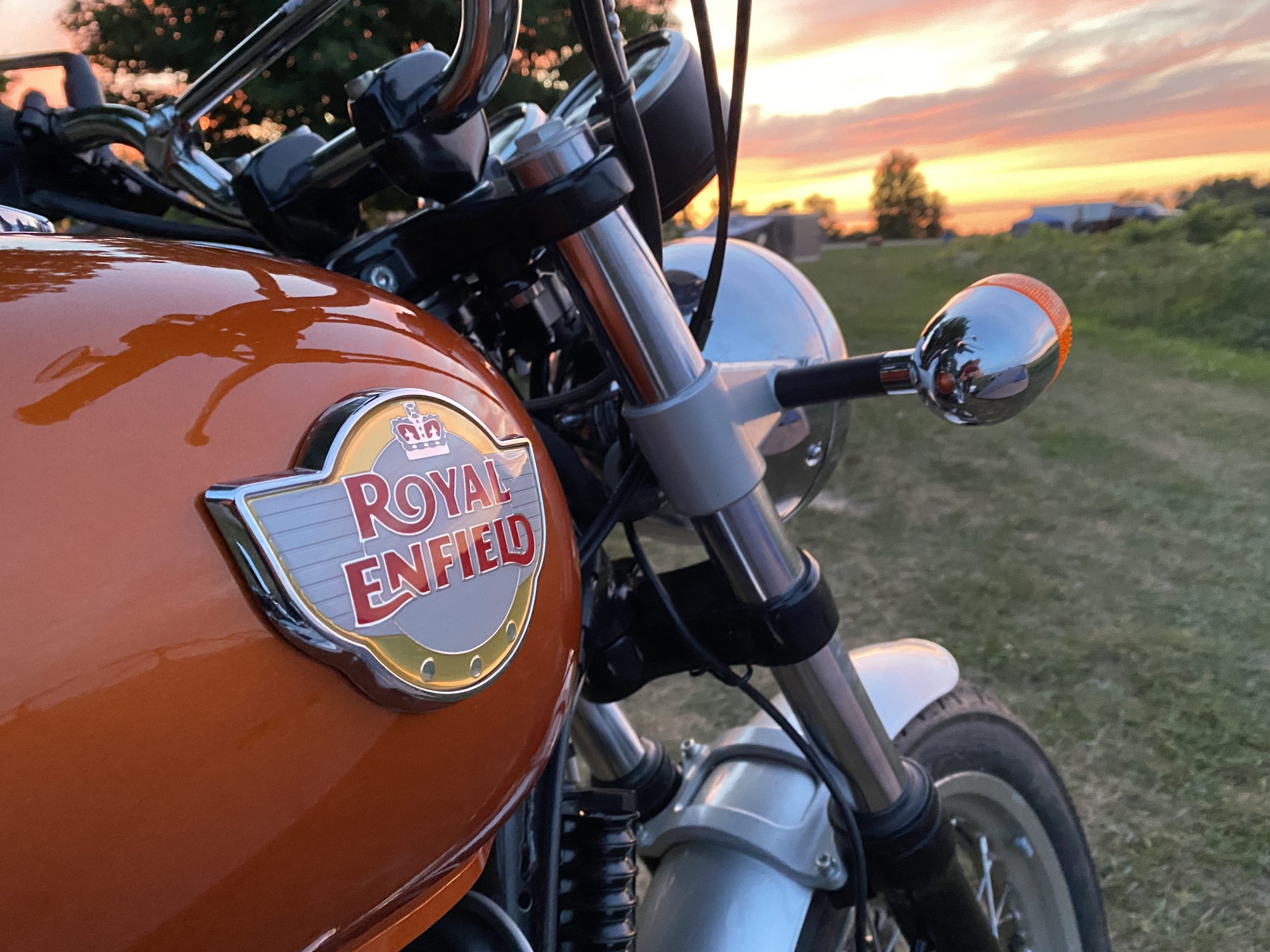Royal Enfield INT650 gas tank detail