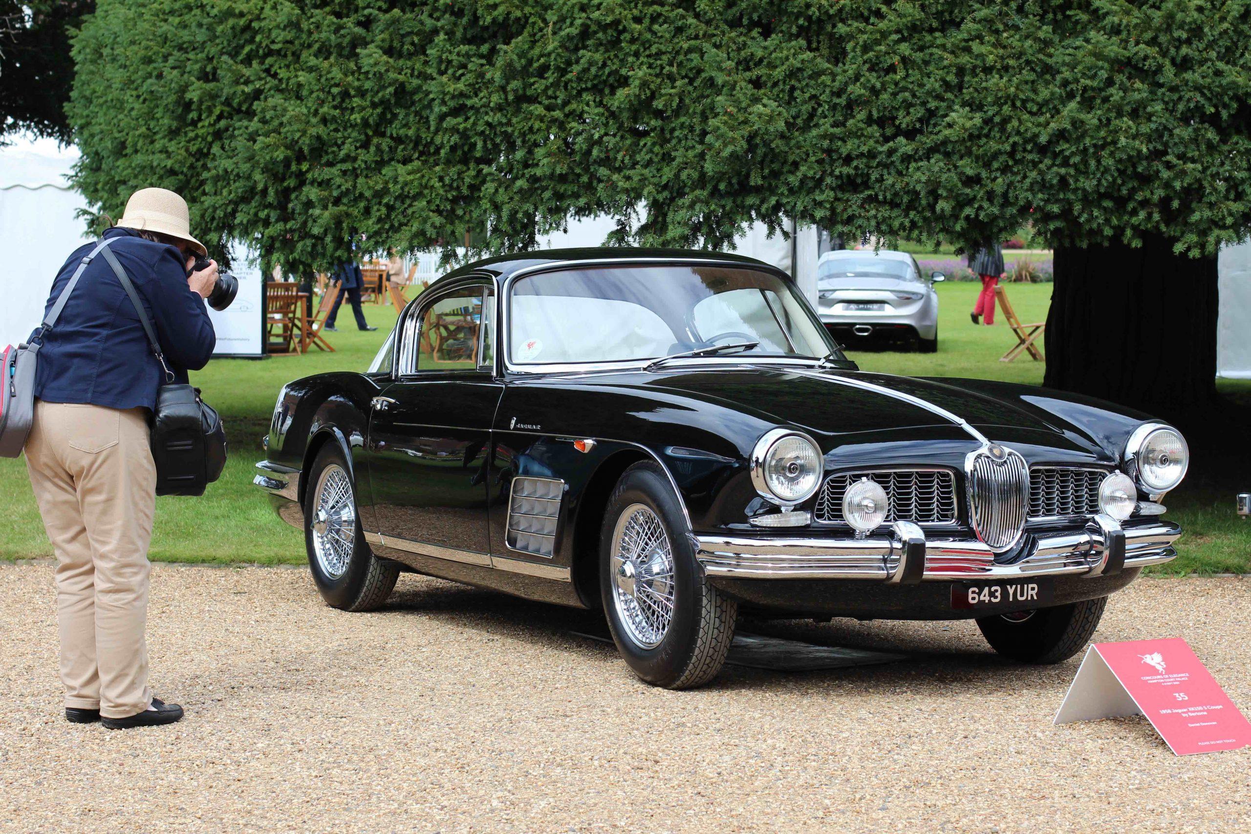 vintage jaguar front three-quarter